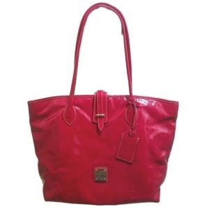 Dooney & Bourke Glossy Red Coated Canvas Tote